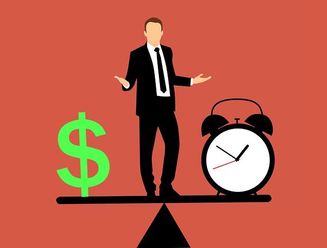 peníze, čas, vyváženost